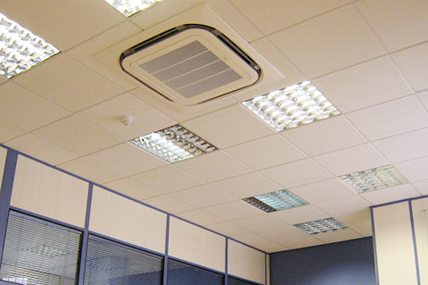 Photo of  office with ceiling mounted air-con unit