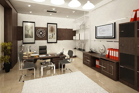 Photo of beautifully decorated office