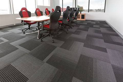 photo of meeting room with grey carpet tiles