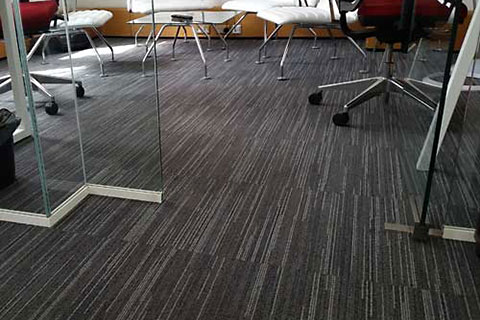 photo of office with grey carpet tiles