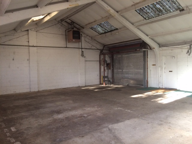 A photo showing the industrial unit before conversion