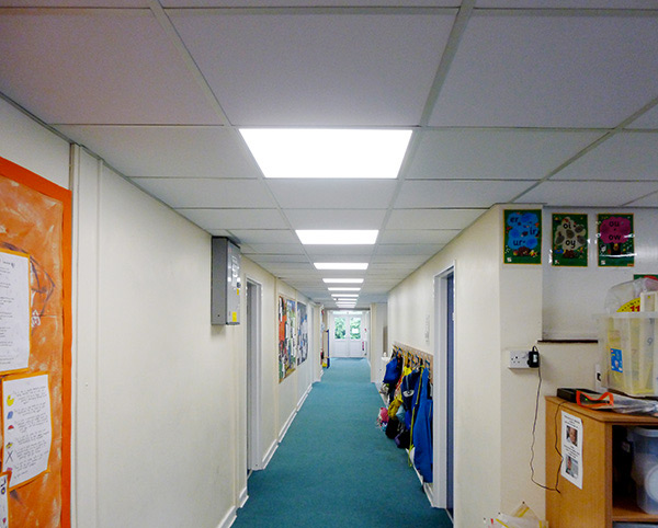 A photo of the school corridor refurbished by Complete Interiors
