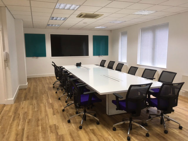 A photo of modern office conversion created by Complete Interiors, Doking