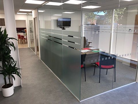Photo of business unit refurbishment looking into one of the office units